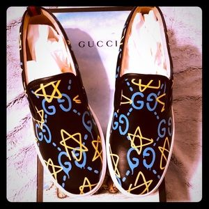 Gucci Ghost GG Star Slip On Sneakers